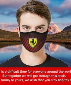 Ferrari Logo Cloth Face Mask – Filter Face Mask US 2020