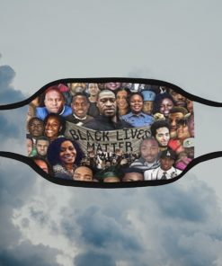 Black lives matter with victims face mask