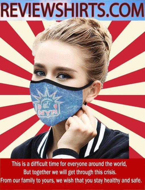 New York Rangers Face Masks - Logo NYR 2020