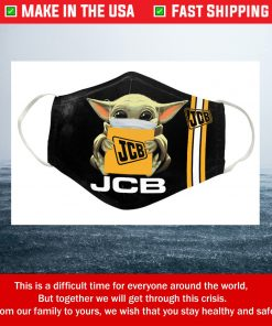 Baby Yoda JCB Cotton Face Mask