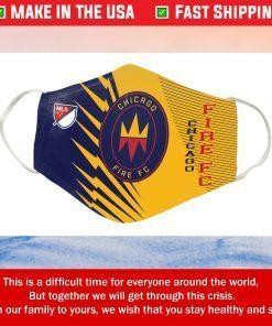 Logo Chicago Fire FC Cotton Face Mask