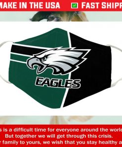 Logo Team Philadelphia Eagles Cotton Face Mask