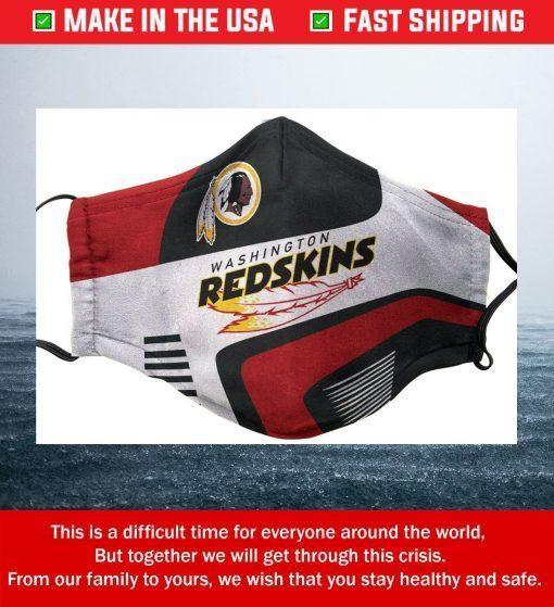 Logo Washington Redskins Cotton Face Mask