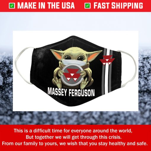 Nike Baby Yoda Massey Ferguson Tractor Cotton Face Mask