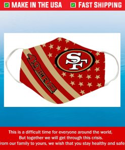 Red San Francisco 49ers Cotton Face Mask