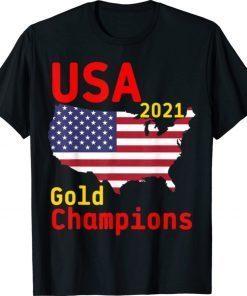 USA Gold Champions Football Team 2021 Shirt