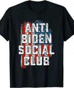 2021 Anti Biden Social Club American Flag Retro Vintage T-Shirt
