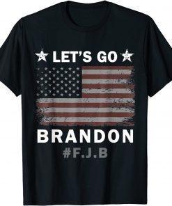 2021 Anti Biden Let's Go Brandon Tee Conservative Anti Liberal US Flag T-Shirt